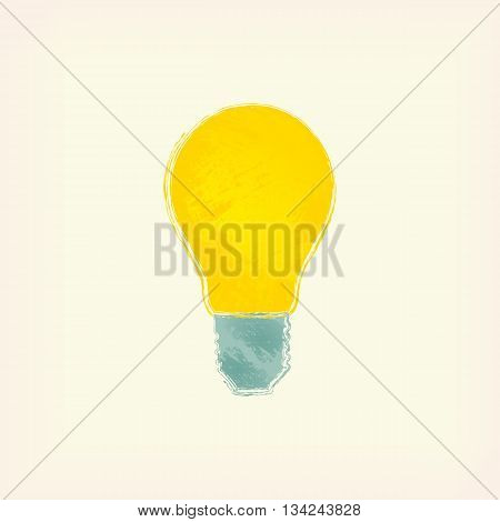 The icon of incandescent lamp. Idea, light.