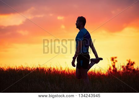 Runner At The Sunset