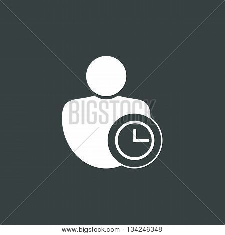 User Time Icon In Vector Format. Premium Quality User Time Symbol. Web Graphic User Time Sign On Dar