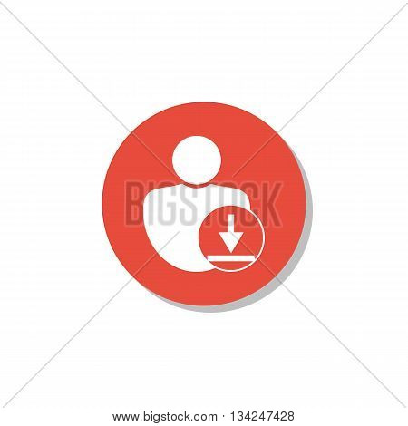 Download Icon In Vector Format. Premium Quality Download Symbol. Web Graphic Download Sign On Red Ci