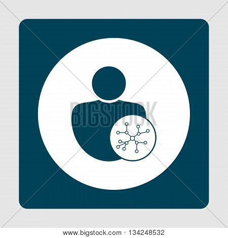 User Connection Icon In Vector Format. Premium Quality User Connection Symbol. Web Graphic User Conn