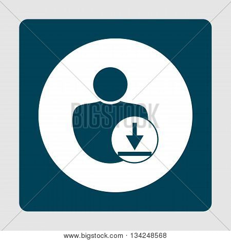 Download Icon In Vector Format. Premium Quality Download Symbol. Web Graphic Download Sign On Blue B