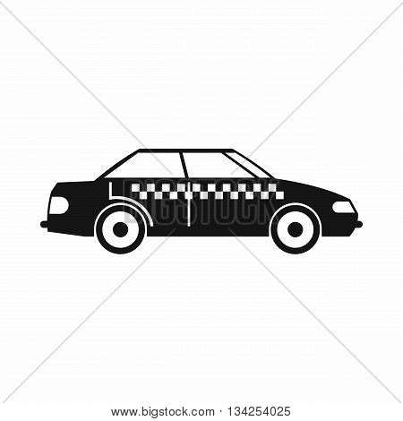 Taxi icon in simple style isolated on white background