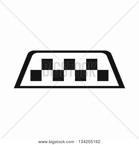Checker taxi icon in simple style isolated on white background