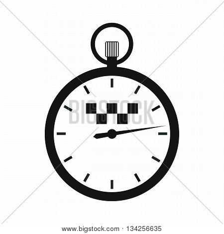 Speedometer in taxi icon in simple style isolated on white background