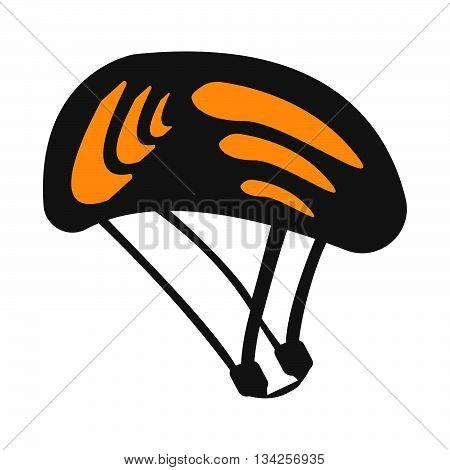 Travel Helmet Isolated On White Background. Bike Helmet Vector Illustration. Protecting Motorcycle H