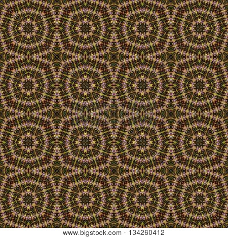 Brown white hippie boho ornamental seamless pattern