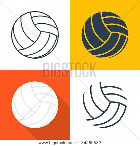 Set Icons Volleyballs