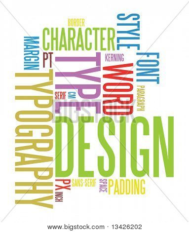 Colorful design and typography background