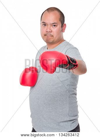 Asian man already to fight