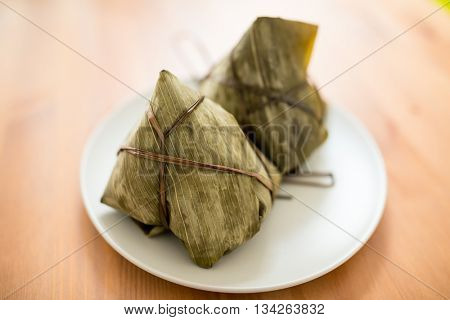 Chinese tradition food, steamed rice dumpling