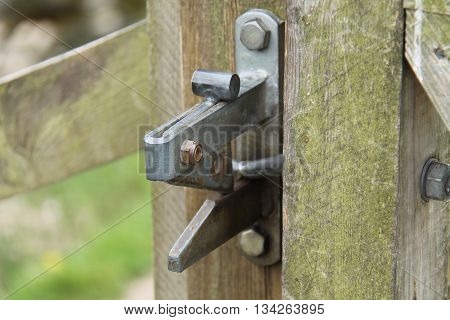 The Latch from a Countryside Wooden Gate Lock.
