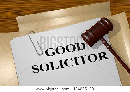 Good Solicitor Legal Concept