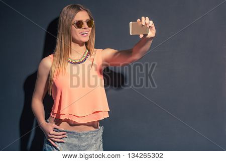 Summer Girl With Gadget