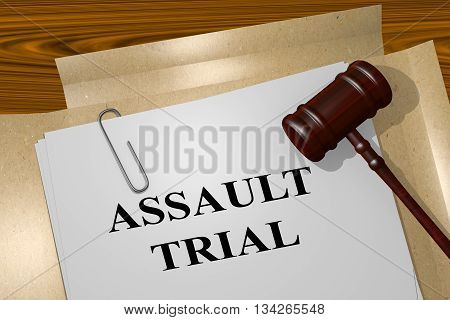 Assault Trial Legal Concept