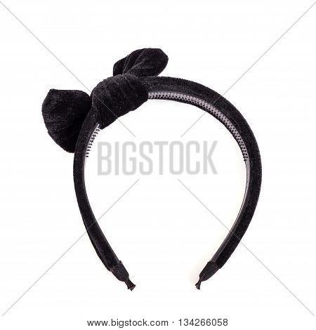 Black Headband Isolated On White Background