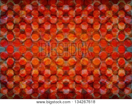 An overlapping orange and red circles background