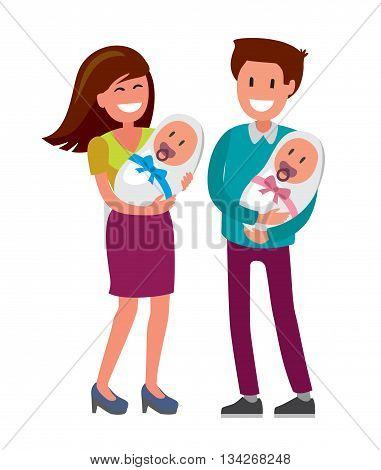 mother and father with a newborn baby