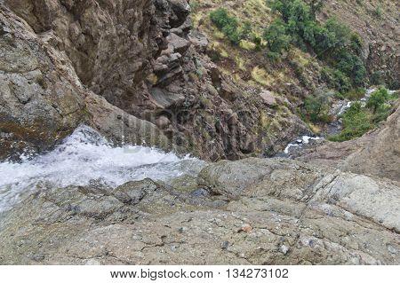 Mountain And Waterfall