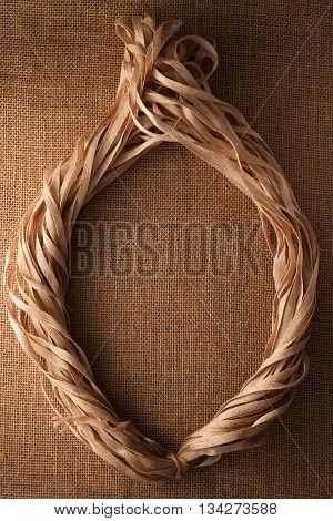 Rope Flax Frame Sackcloth Background