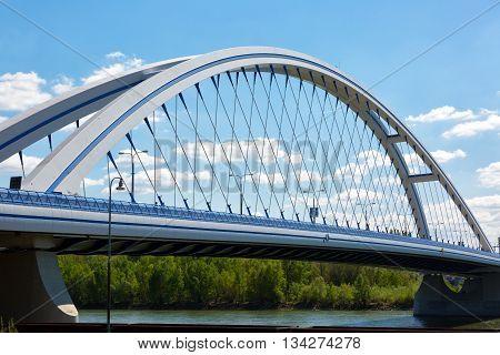 Apollo Bridge in Bratislava on a summer day Slovakia