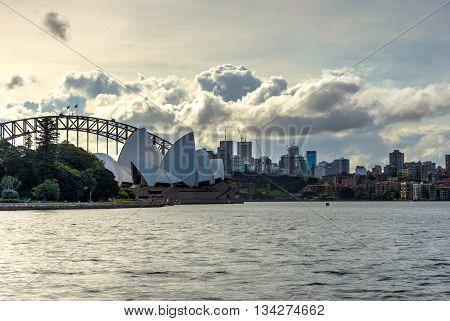 Sydney Opera And Harbour Bridge At Daytime