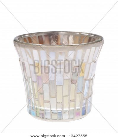 Opalescent Jar Candle Holder