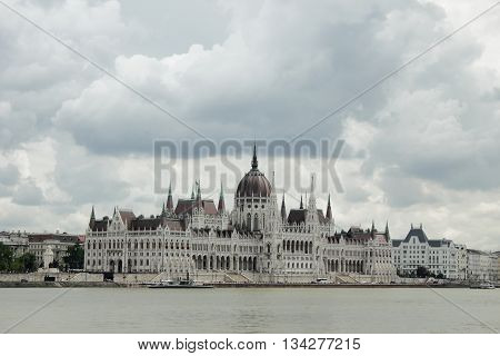 Interesting Budapest view with the Hungarian Parliament.