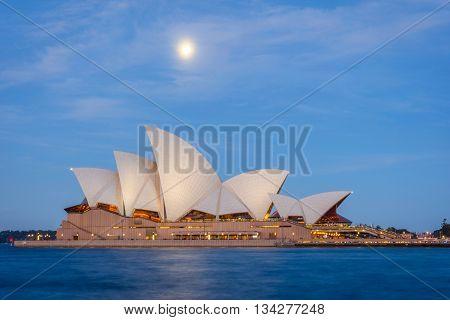 Sydney Opera House At Night