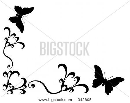 Butterfly Scroll Art 5