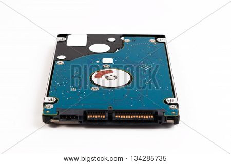 Hard Disk Of A Laptop. Laptop 2.5 Inch Sata Harddisk Isolated On A White Background
