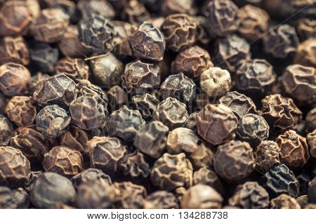 Black Peppercorn Background.