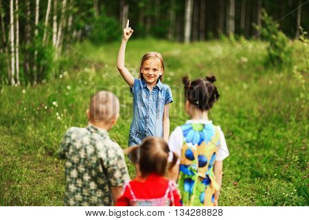 Children Happiness Outdoors.