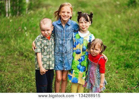 Children Happiness Outdoors.