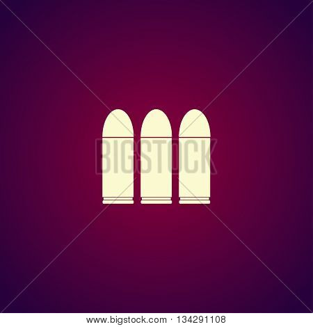 Bullet Icon. Flat Design Style.
