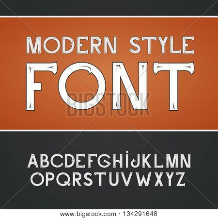 Vector Label Font, Modern Style.