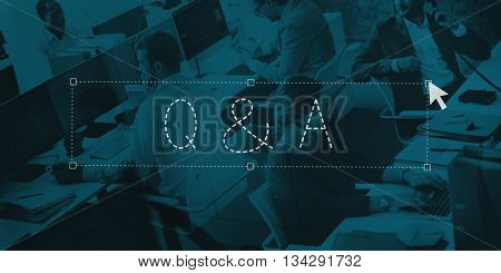 Q&A Question Answer Communication Explanation Concept