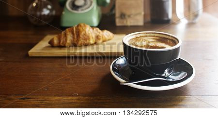 Coffee Croissant Breakfast Refreshness Concept