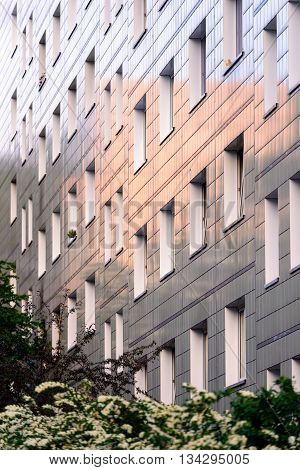 Built in 1960-ies the block of flats could be still viewed modern thanks to reflecting tiles coating of the facade