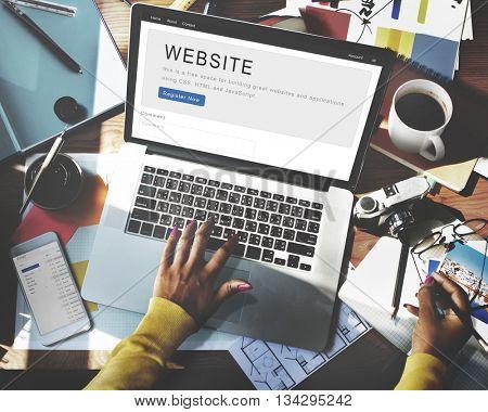 Website Development Internet Homepage Layout Concept