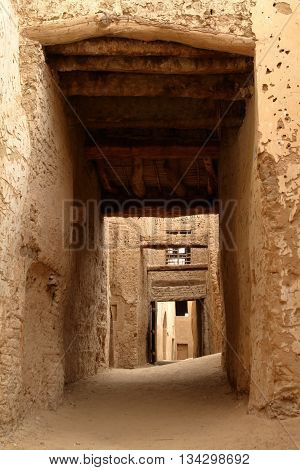The city of El Qasr in the Sahara Desert in Egypt