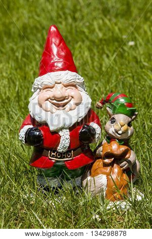 A Santa garden gnome for the holidays