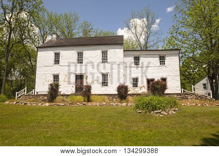 An old house at Waterloo Village in New Jersey