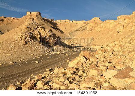 The White Desert at Farafra in the Sahara of Egypt
