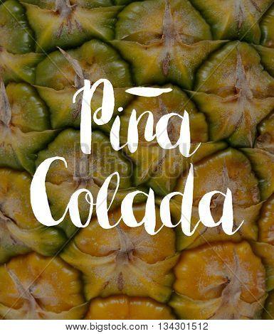 Pina colada concept