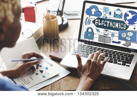 Electronics Innovation Solutions Evolution Concept
