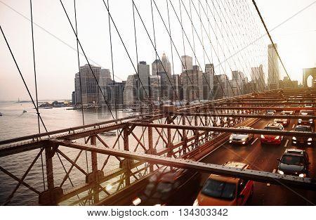 Brooklyn Bridge Landmark Architecture Metropolitan Concept