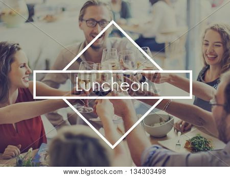 Lunch Out Luncheon Party Cuisine Catering Gourmet Concept