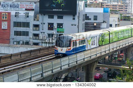 Sky Train At The Sukumvit, Thailand