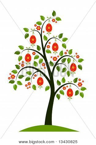 Flowering Tree With Easter Eggs